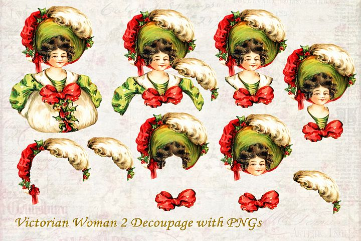 Vintage Victorian Decoupage or Collage Printable and PNG