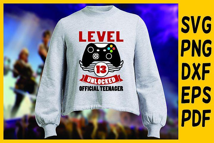 teenager gamer birthday, level unlocked