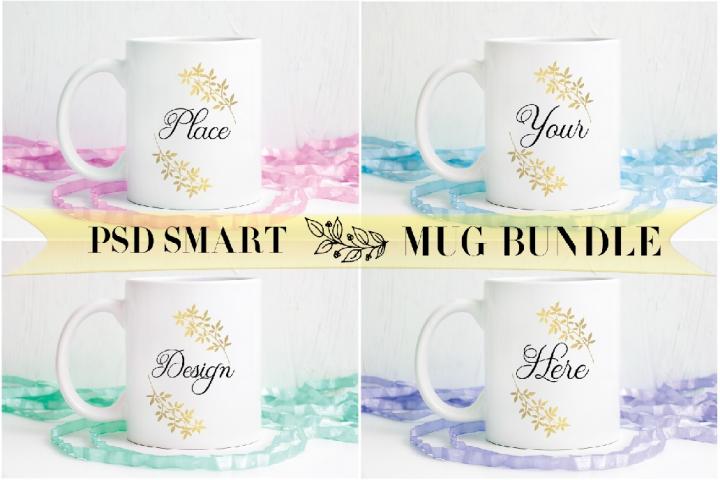 4 Mockup bundles Sublimation spring Easter coffee Mug