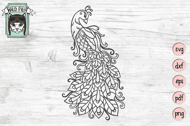 Peacock SVG file, Feather, Bird cut file, Peacock cut file