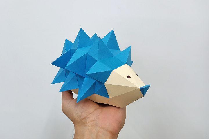 DIY Porcupine papercraft,lowpoly papercraft,hedgehog model