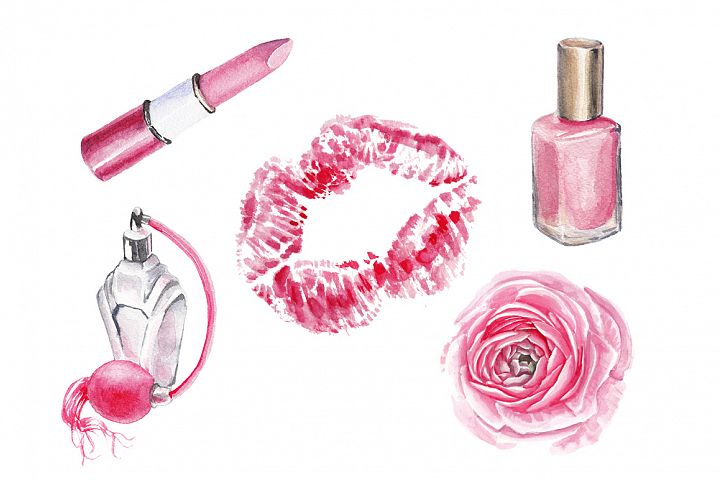 Watercolor beauty collection