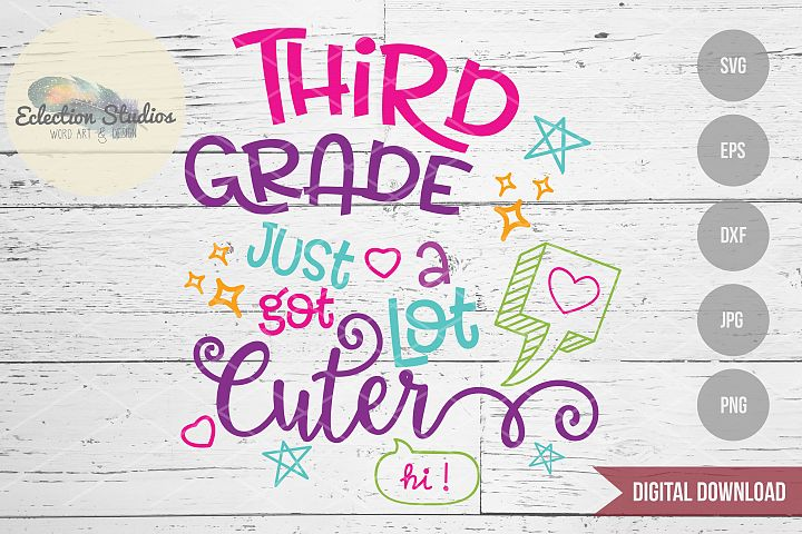 Back to School SVG, Third Grade First Day SVG