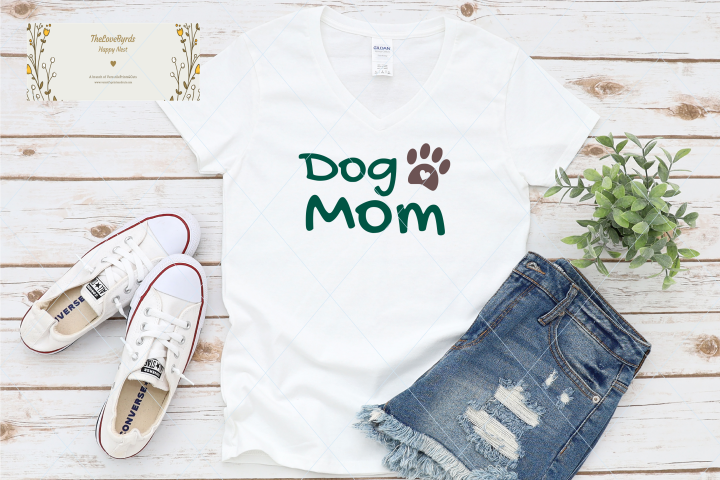 Dog mom svg, love paw cut file, mom life, pet lover