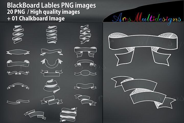 Blackboard Empty Label / Chalkboard banners PNG Label