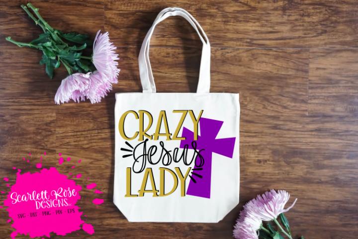 Crazy Jesus Lady SVG