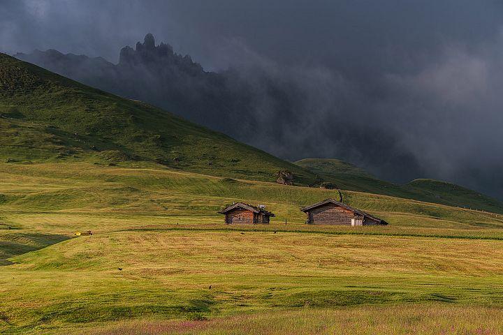 Gloomy day in the Dolomites