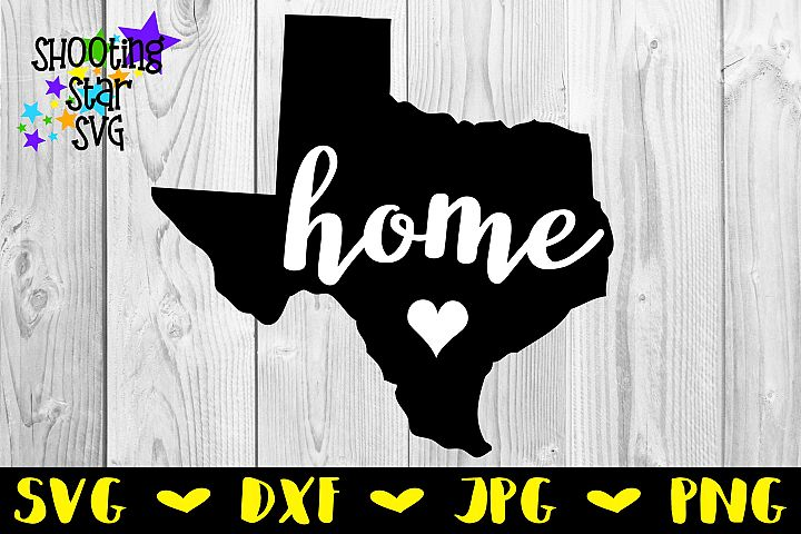 Texas Home State with Heart - 50 States SVG