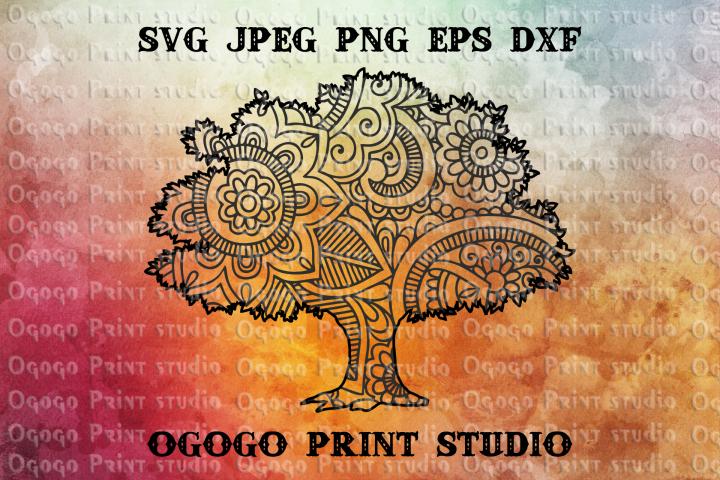 Tree SVG, zentangle SVG, Wedding svg, Mandala svg, Family