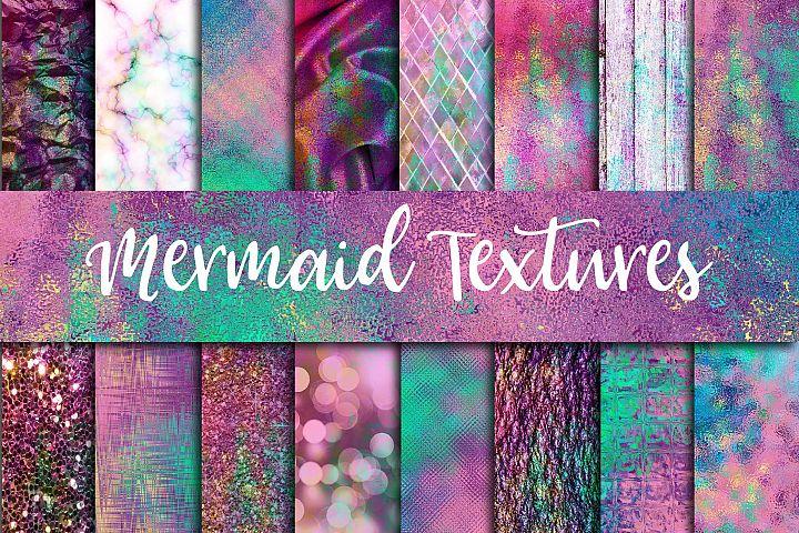 Mermaid Textures Digital Paper