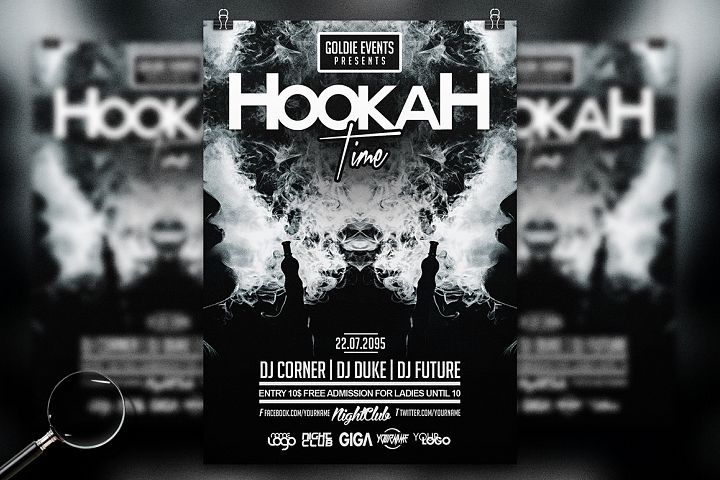 Hookah Time | Chill Flyer Template