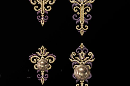 Two Baroque buttonholes Machine Embroidery Designs