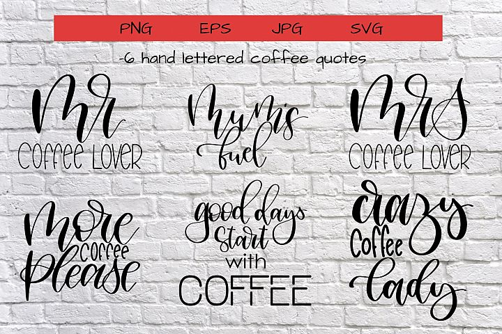 Coffee quotes bundle