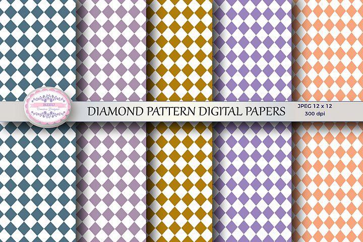 DIAMOND PATTERN DIGITAL PAPERS