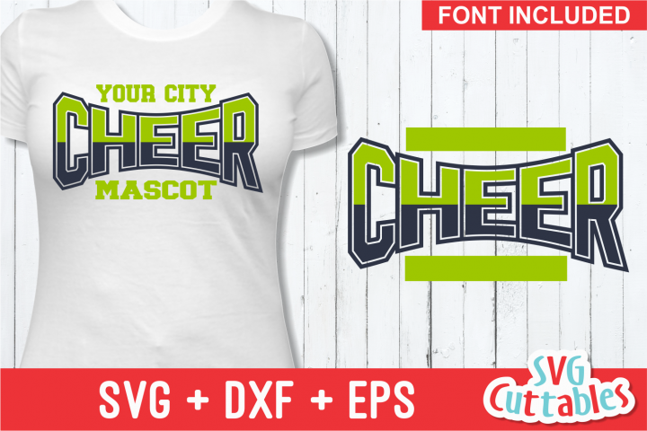 Cheer Template 0019, SVG Cut File