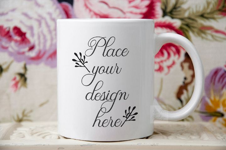 Mug mockup sublimation 11oz coffee cup minimal pink mock up