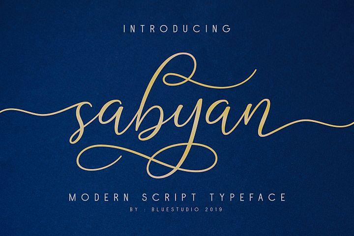 Sabyan // Modern Script Typeface