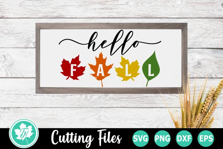 Hello Fall - A Fall SVG Cut File