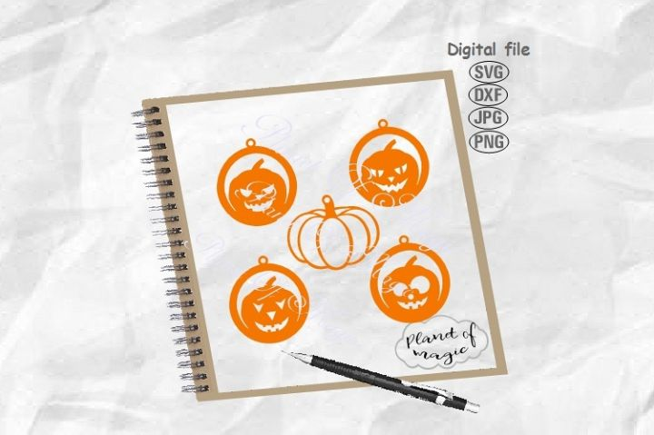 Halloween Earrings Svg, Pumpkin Earrings Svg, Earrings Svg