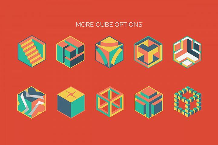 3D Cube Infographics