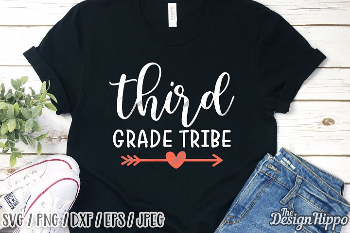 Third Grade Tribe, School SVG DXF PNG EPS Cricut Cut Files