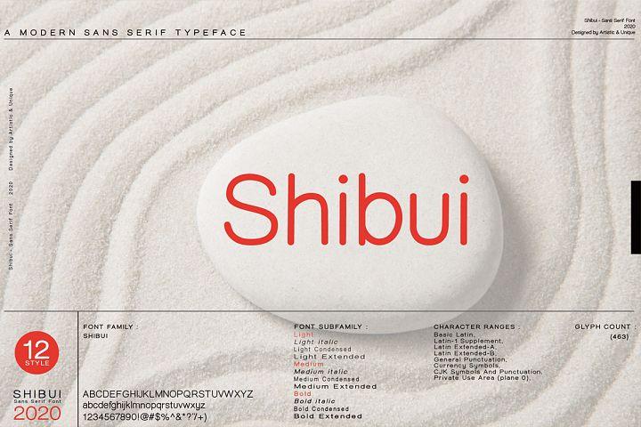 Shibui - Sans Serif font Family