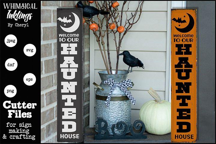 Haunted House-Vertical Halloween SVG