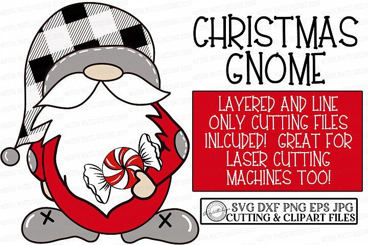 Farmhouse Christmas Gnome - Cutting File - Buffalo Check