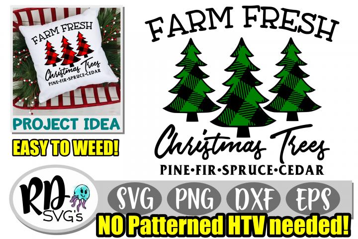 Farm Fresh Tree Farm - A Cuttable Patterned Christmas File