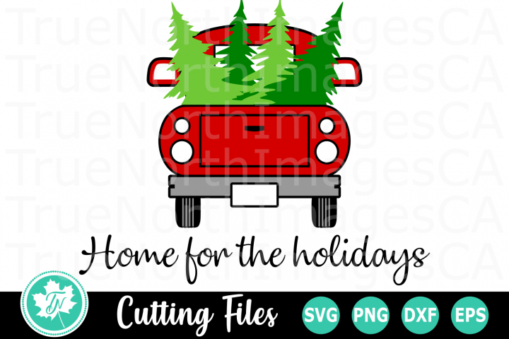 Home for the Holidays - A Christmas SVG Cut File