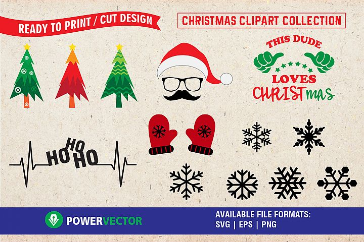 Christmas Svg Clipart Collection