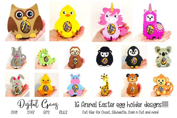 16 Animal egg holder designs - The complete set!!!!