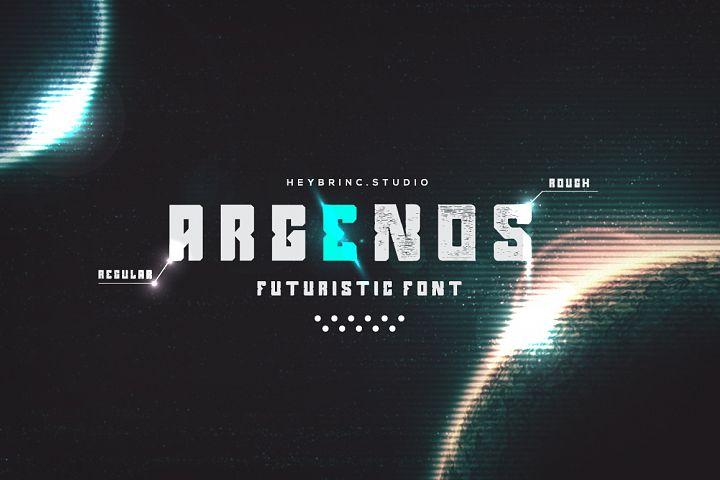Argenos - Futuristic Font