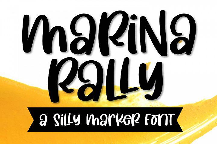 Marina Rally - A Silly Marker Font