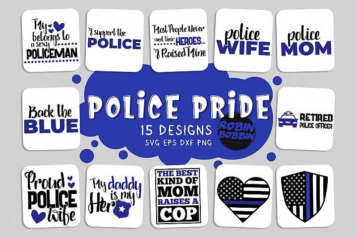 Policeman SVG Bundle - Police Pride Bundle SVG