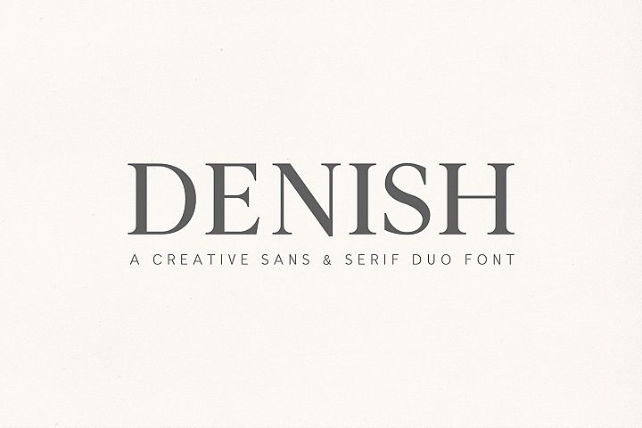 Denish Sans & Serif Duo Font Family