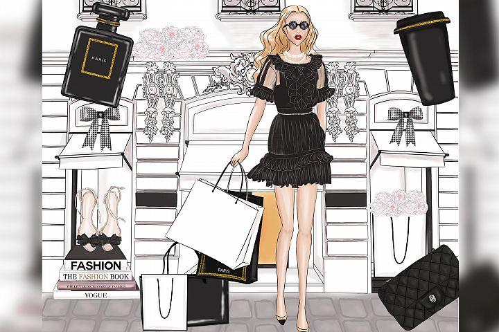 Fashion Illustration Clipart Fashion Girl Clipart Perfume