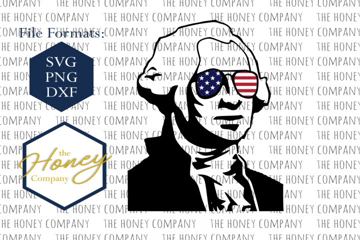 Cool George Washington SVG PNG DXF 4th of July Design Instant Download Silhouette Cricut Cut Files Cutting Machine