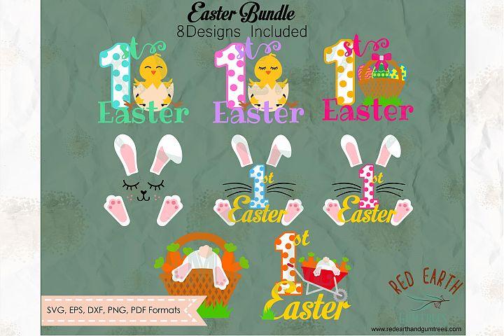 Easter bundle, Easter rabbits, bunny cut file in SVG format