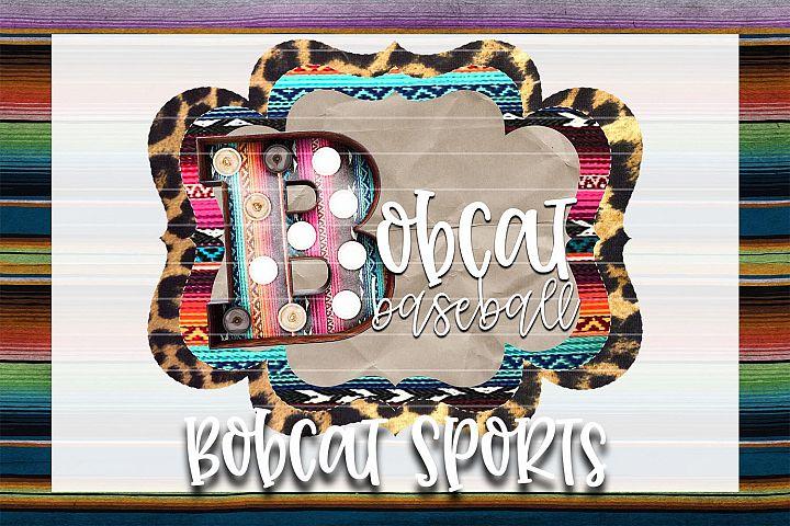 Bobcat Baseball Sublimation PNG
