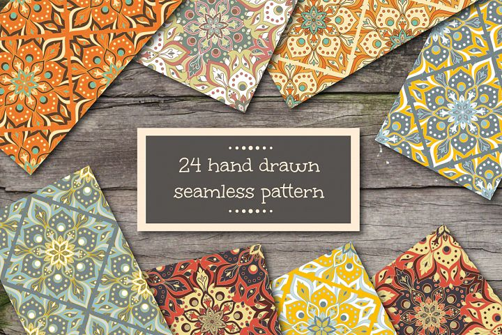 Seamless patterns in ethnic style