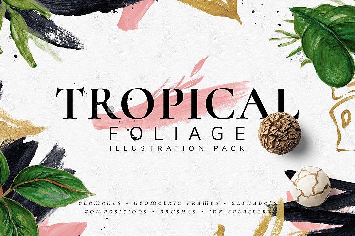 Tropical Foliage Illustration Pack