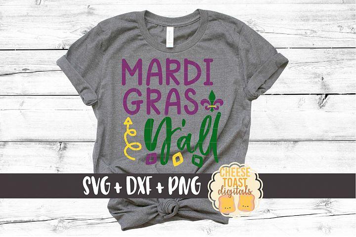 Mardi Gras Yall - Mardi Gras SVG File - SVG PNG DXF Files