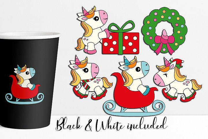 Christmas unicorn illustrations and graphics