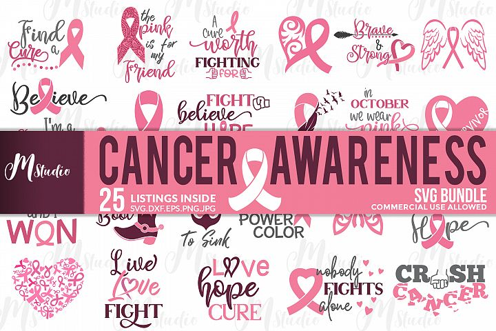 Cancer Awareness bundle SVG