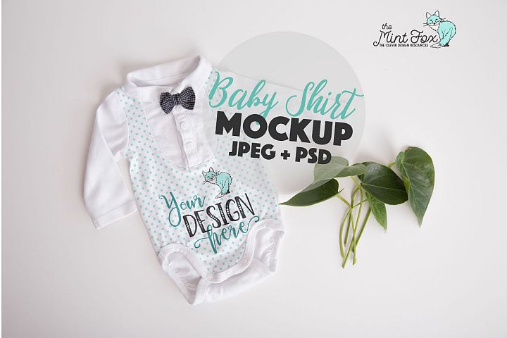 New Born Bodysuit Mock Up | Baby Boy Mockup