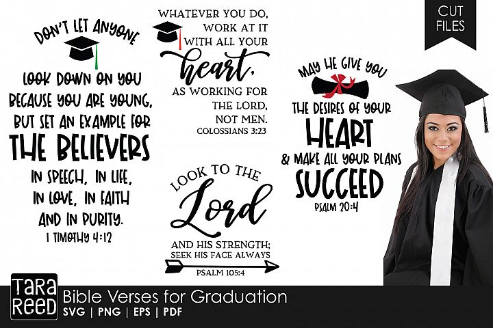 Bible Verses for Graduation SVG and Cut Files for Crafters