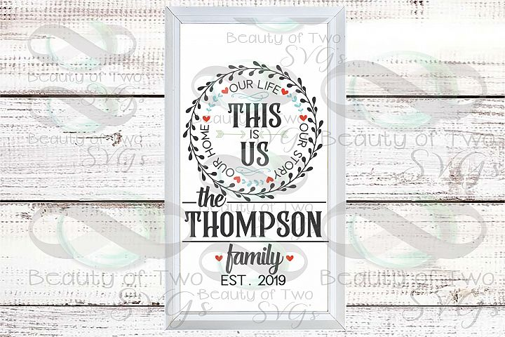 This is us customize Last Name wreath svg sign design