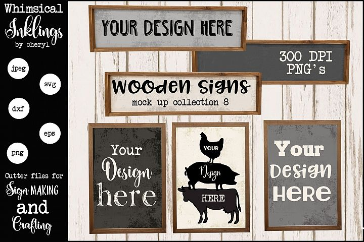 Wooden Frame Mock Up Collection EIGHT