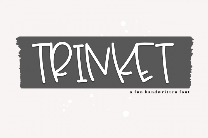 Trinket - A Fun Handwritten Font